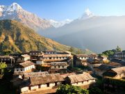 Ghandruk Village seen on Annapurna Sanctuary trek